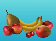 Realistic Vector Fruits free