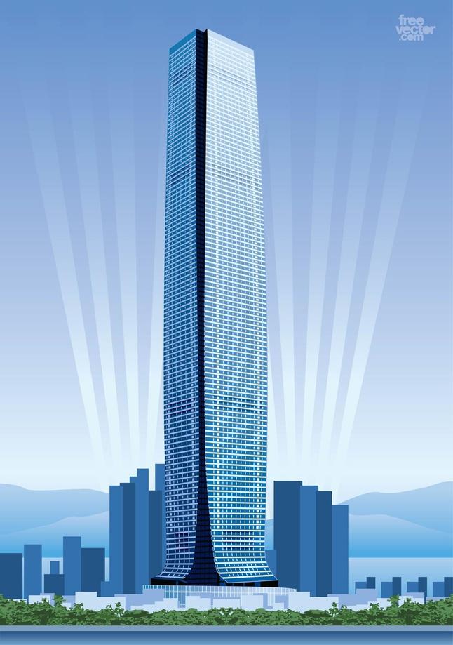 Hong Kong Skyscraper vector free