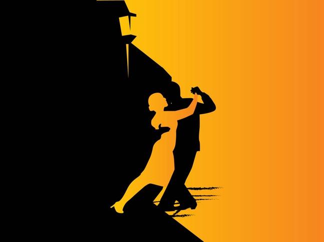 Tango Dancers Graphics Vector Free Free Download