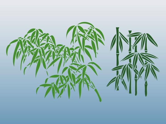 Bamboo Designs vector free