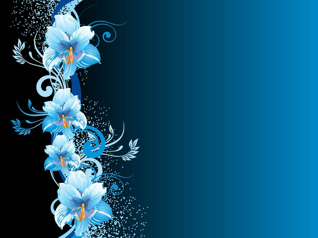 Blue Flowers Background vector free