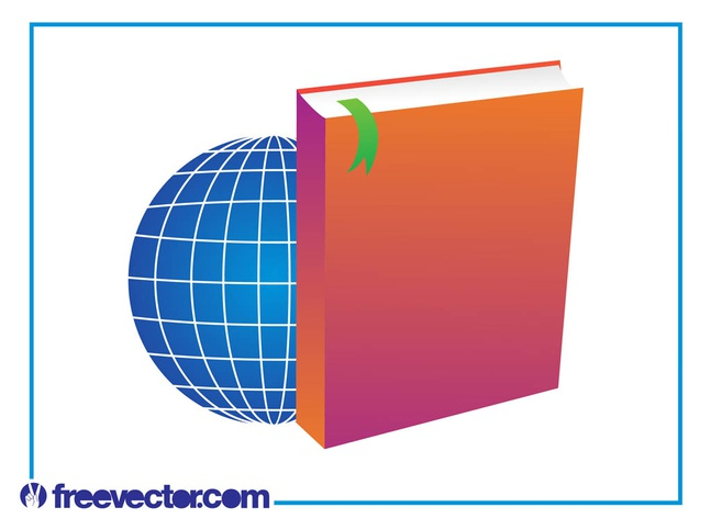 Book And World Layout vector free