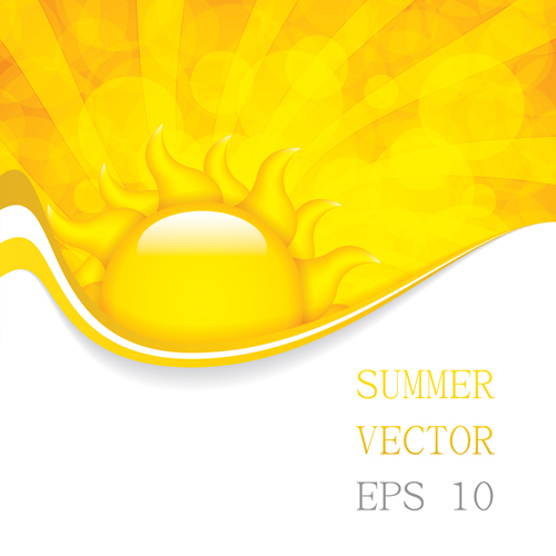 Cartoon summer sun vector background 01 free