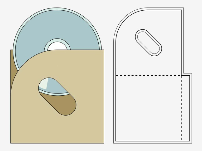 CD Case Fold Out vector free
