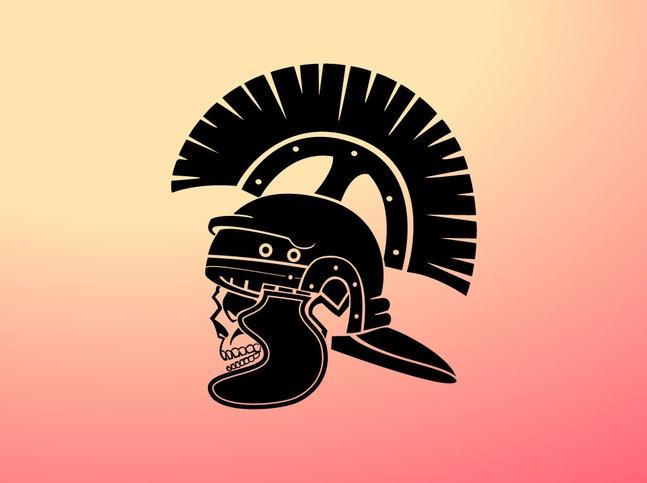 Centurion Skull Vector free
