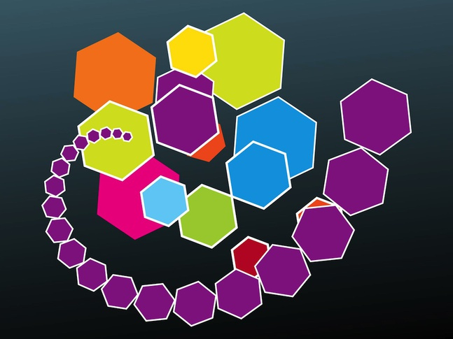 Colorful Polygons vector free