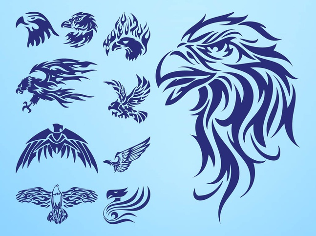 Eagle Tattoos vector free