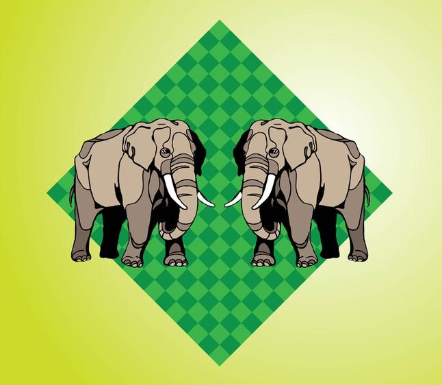 Elephants vector free