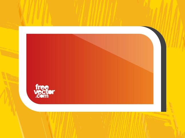 Orange Sticker Template vector free