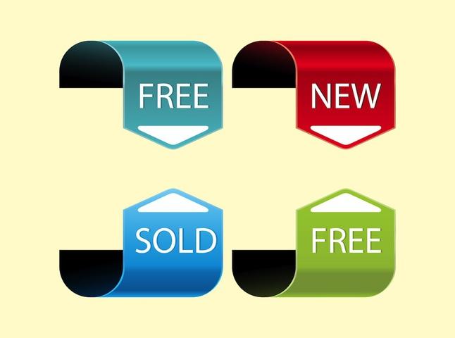 Promotion Arrows vector free