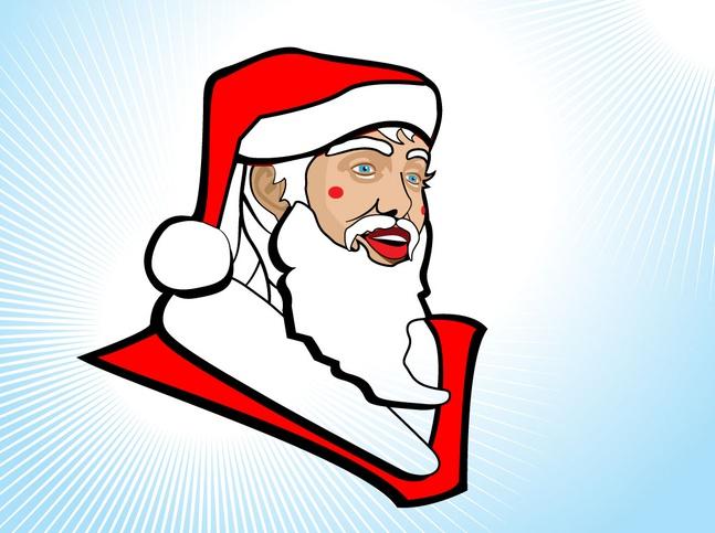 Santa Clip Art vector free