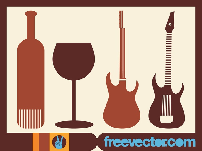 Silhouette Icons vector free