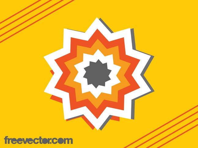 Star Sticker Design vector free