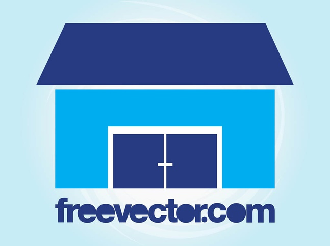 Stylized House Icon vector free