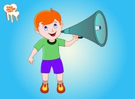 Boy With Megaphone vector free