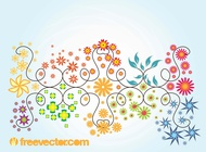 Floral Summer Vector Graphics free