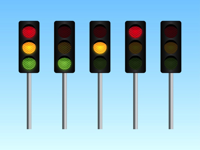 Traffic Lights vector free