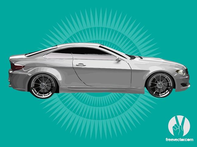 White BMW vector free
