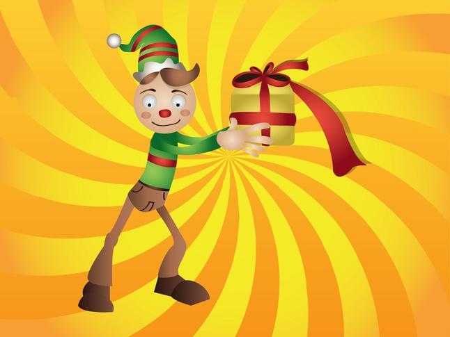 Christmas Elf vector free
