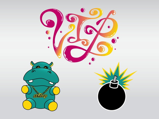 Cool Hippo Vector free