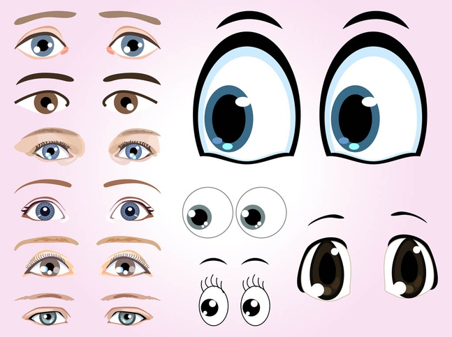 Eyes Graphics vector free