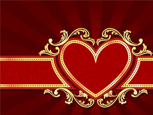 Red style holiday background vector  01 free