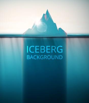 Shiny Iceberg background vector graphic free