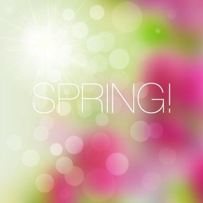 Shiny spring elements vector background set 07 free