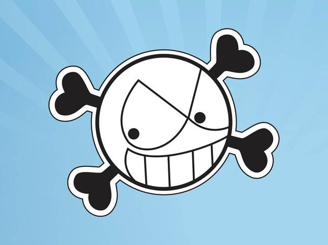 Smiling Skull vector free