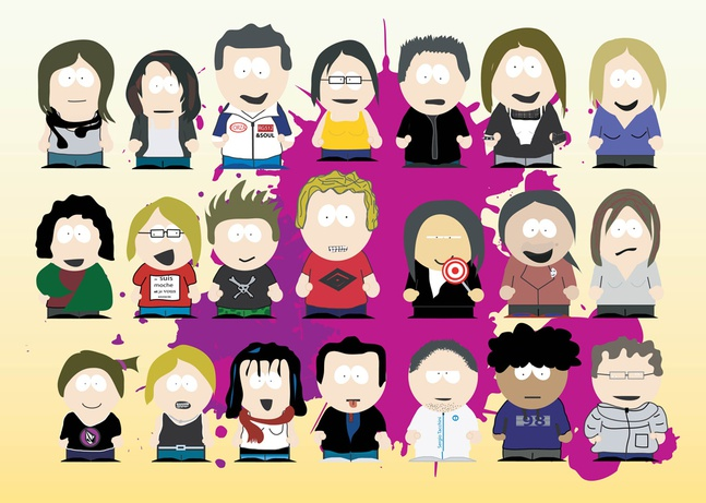 South Park Cartoons vector free
