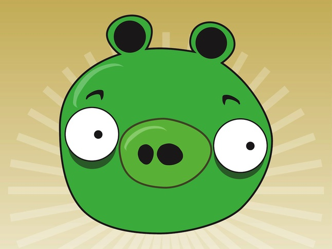 Angry Birds Pig vector free