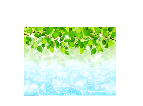 Bubble and tree leaves vector background 04 free