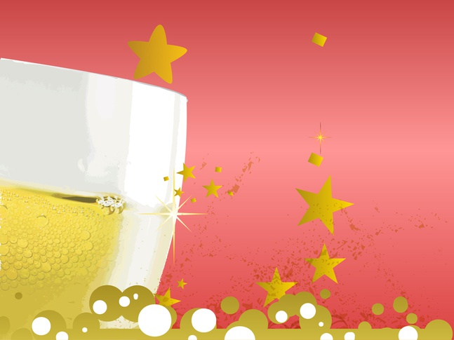Champagne Glass vector free
