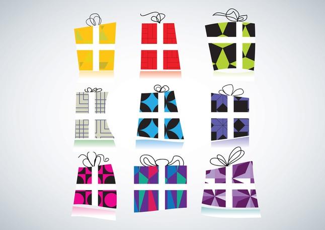 Free Gift Packs Vectors