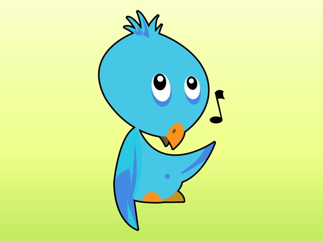 Singing Bird Cartoon vector free