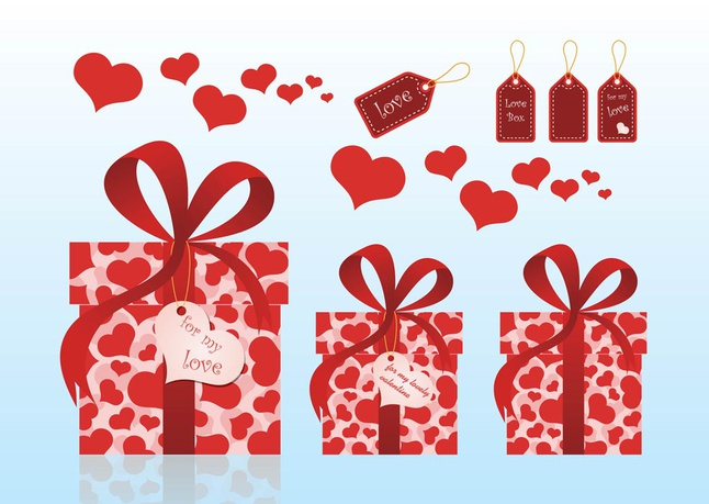 Valentine Gifts vector free