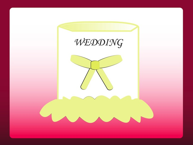 Wedding Cake Illustration vector free