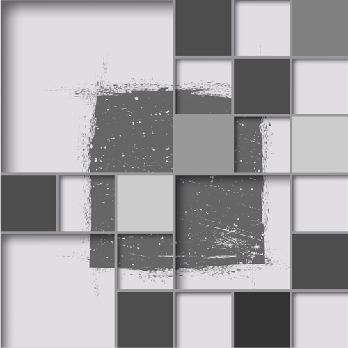 3D square abstract background vector 01 free