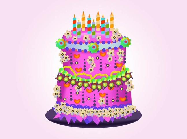 Birthday Cake Vector free