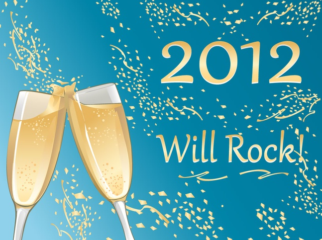 Champagne New Year vector free