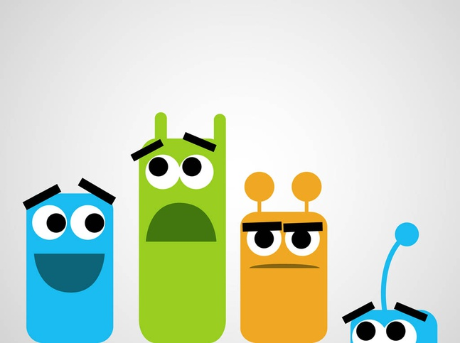 Cute Monster Characters vector free