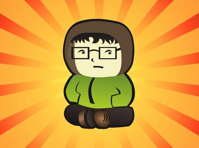 Geek Boy Vector free