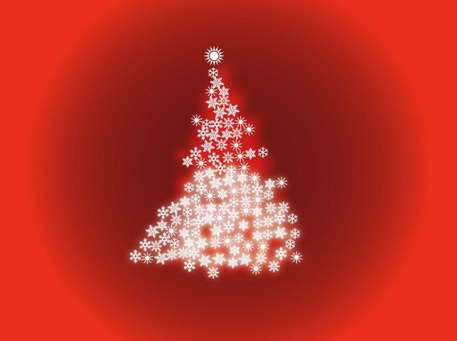 Shining Christmas Tree vector free