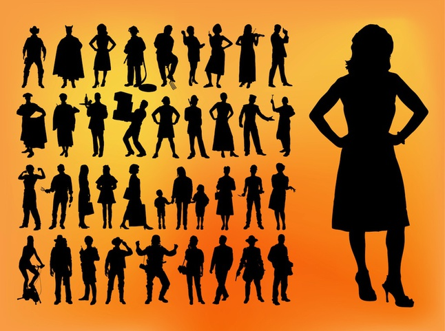 Silhouette Pack vector free