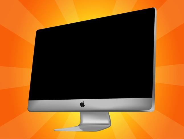 Vector Apple iMac free