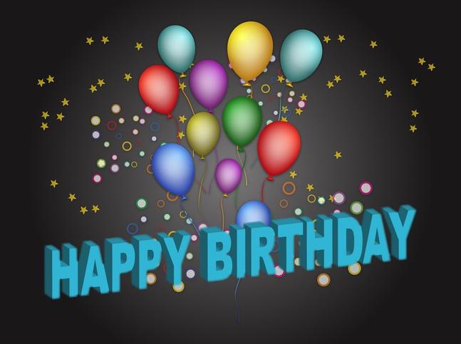 Birthday Poster vector free