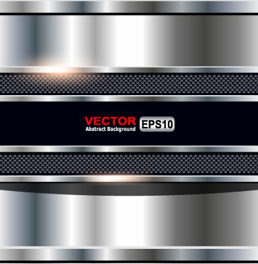 Bright chrome metal background vector graphics 03 free