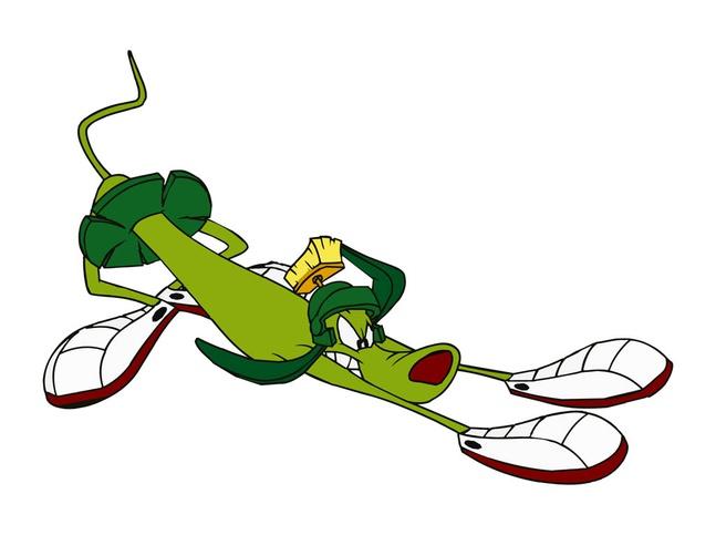 Cartoon Alien Dog vector free