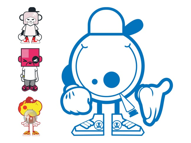 Character Design Vector Free Download : Cartoon characters designs vector free download