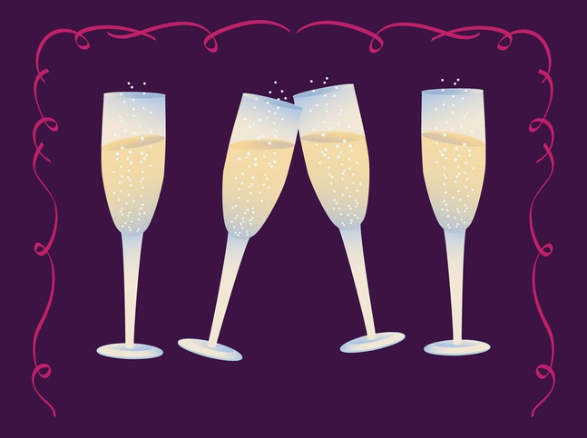 Champagne Glasses vector free